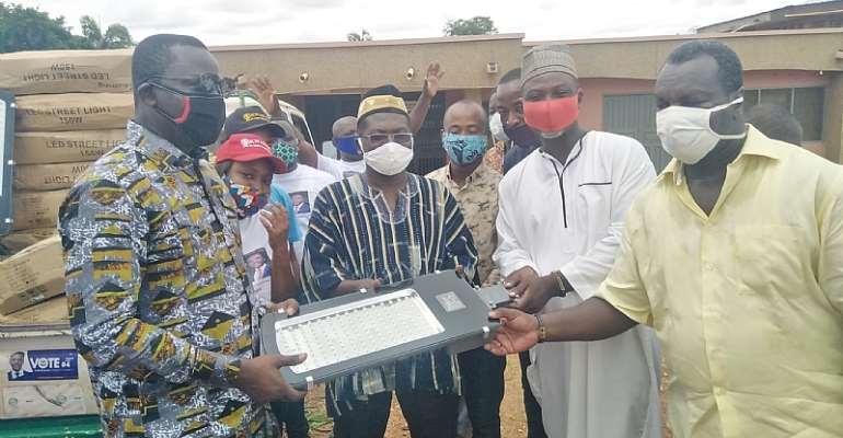 15 Communities Receive Street Lights To Address Crime In Kwadaso