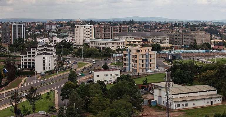 Aerial view of Kigali, capital of Rwanda