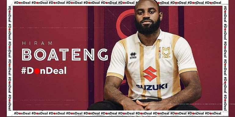 MK Dons Signs Ghanaian Midfielder Hiram Boateng From Exeter
