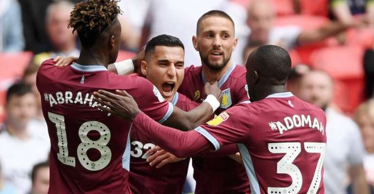 Albert Adomah Helps Aston Villa To Secure Premier League Promotion After 2:1 Win Over Derby