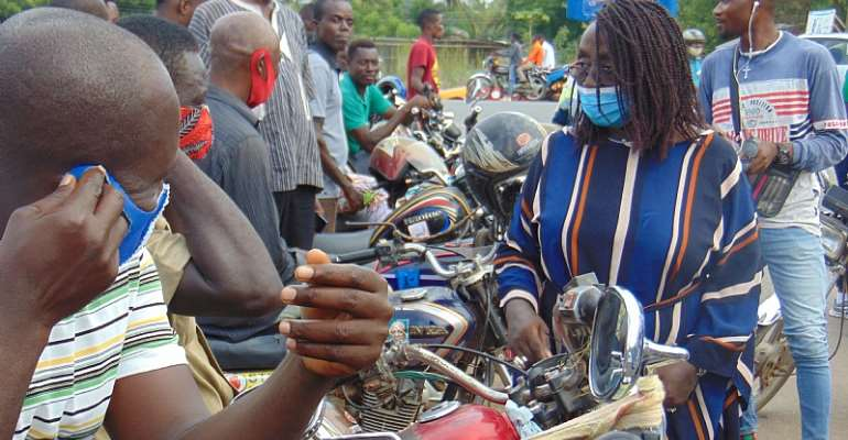 Ketu South NDC PC Dzifa Gomashie Distributes Nose Masks