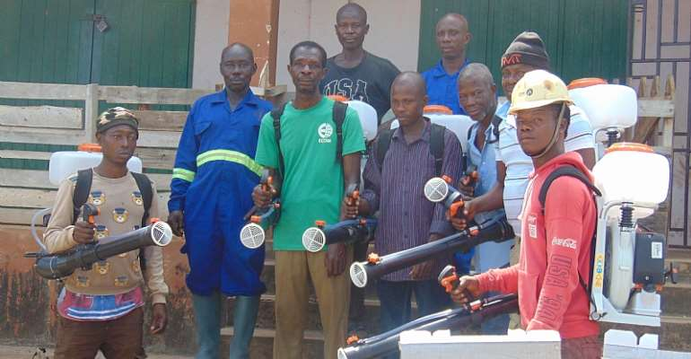 Cocoa  Mass Spraying team receives training in Nkonya Wurupong