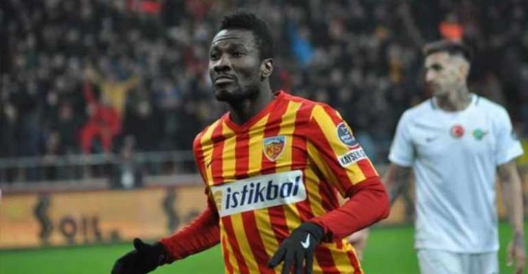 Asamoah Gyan Drags Kayerispor To Court Over Unpaid Wages