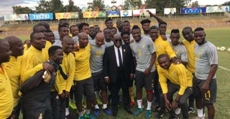 Akufo-Addo with Black Stars in Ethiopia