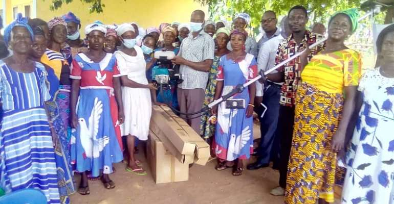 MAG Project Donates Hand-Held Rice Harvesters To 2 Women Farmer Groups In Kintampo