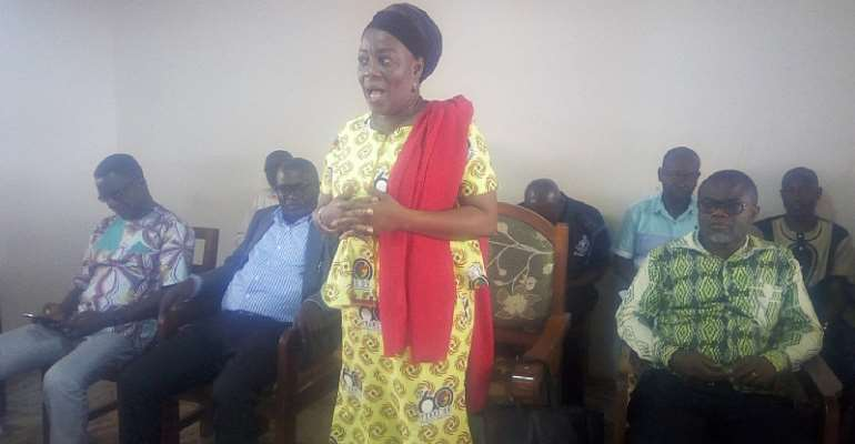 Tain District Chief Executive (DCE), Mrs. Charity Akua Foriwaa Dwommoh
