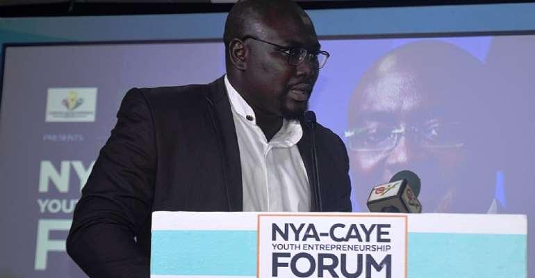 (Sherif Ghali-CEO of Ghana Chamber of Young Entrepreneurs and National Coordinator CAYE-WA)