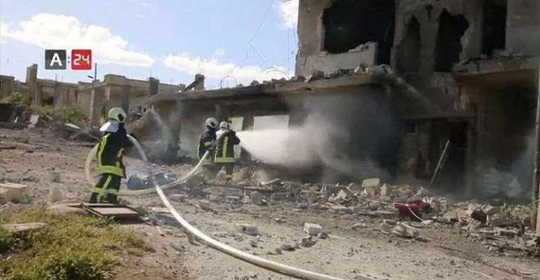 ARAB24/Reuters TV via REUTERS