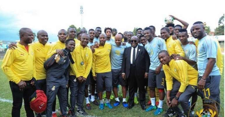 AFCON 2019: President Akufo-Addo Meets Black Stars Squad Ahead Of AFCON