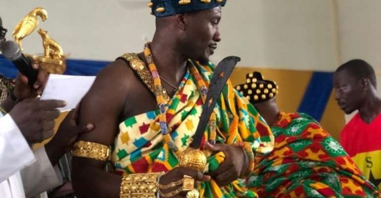 Asamoah Gyan Enstooled Local Chief In Hohoe