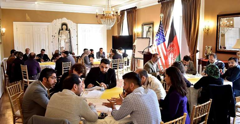 In February 22, Members of the Afghan Diaspora gathered in the Afghan Embassy in Washington DC to discuss various topics related to Afghanistan. Source: Afghanistan Embassy-Washington DC