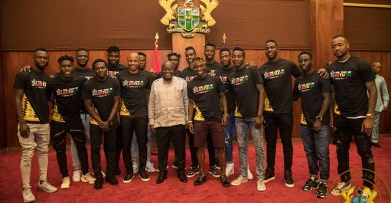 AFCON 2019: Prez. Akufo Addo Charges Black Stars End 37 Years Trophy Drought