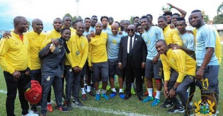 Akufo-Addo Charges Black Stars To Work For Each Other At The 2019 AFCON