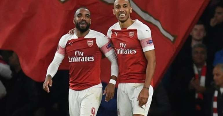 Europa League: Lacazette Double Gives Arsenal Healthy First-Leg Lead Over Valencia