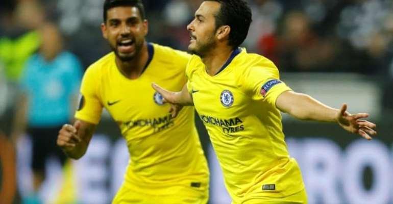 Europa League: Pedro Goal Gives Chelsea First-Leg Draw At Frankfurt