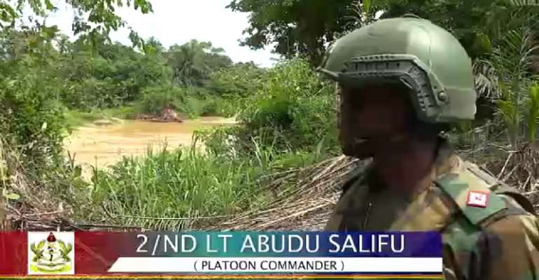 VIDEO: Soldier on galamsey fight