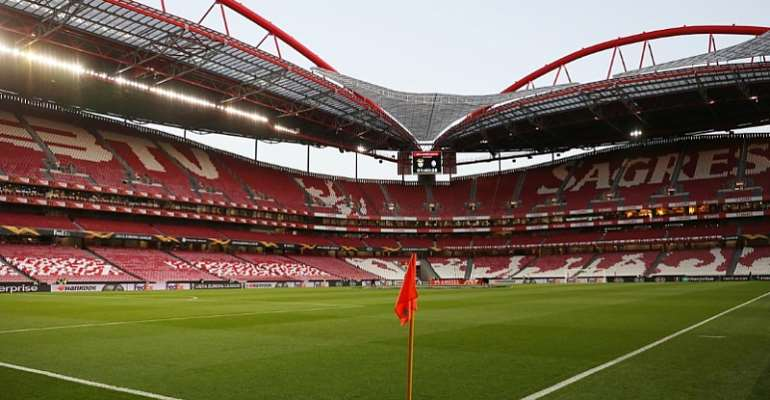 FILE PHOTO: Soccer Football - Europa League - Round of 32 Second Leg - Benfica v Shakhtar Donetsk - Estadio da Luz, Lisbon, Portugal - February 27, 2020 General view inside the stadium before the match REUTERS/Pedro Nune