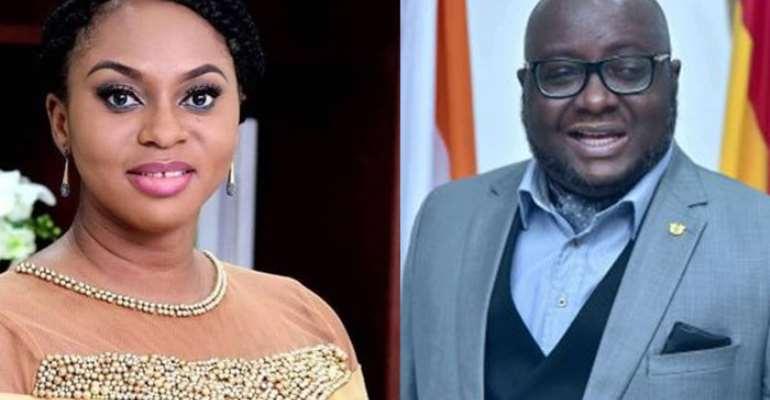 Sarah Adwoa-Safo and Mike Oquaye Jnr
