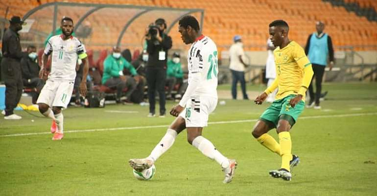 Emmanuel Gyasi against South Africa at the FNB Stadium