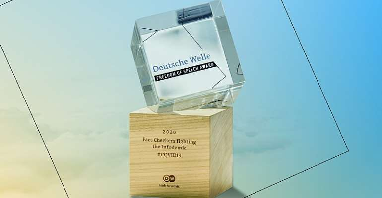 DW Freedom of Speech Award 2020 for Fact-checkers fighting the Infodemic in times of COVID-19