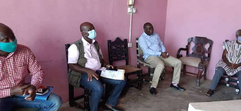 The GTDC officials calling on Obrempong Sintim Poku III (right)