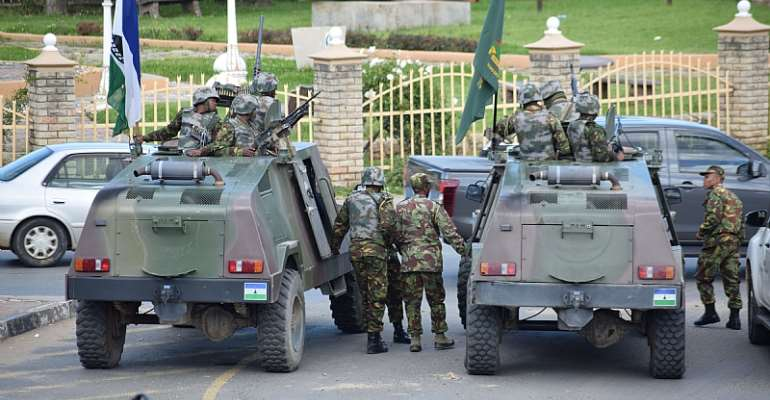 Lesotho's embattled prime minister deployed troops onto the streets in April, ostensibly to 'restore order'.  - Source: Molise Molise/AFP-GettyImages