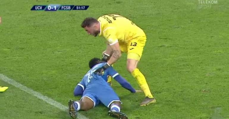 SAD: Ghanaian Player Escapes Death After Collapsing While Playing In Romania