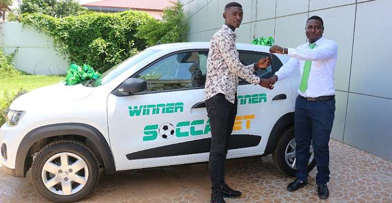 SoccaBet Hands Over Brand New Car To Winner of Massive Promo 2nd Edition