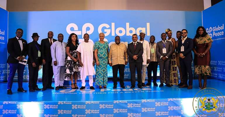 President Akufo-Addo with partners of Global Peace