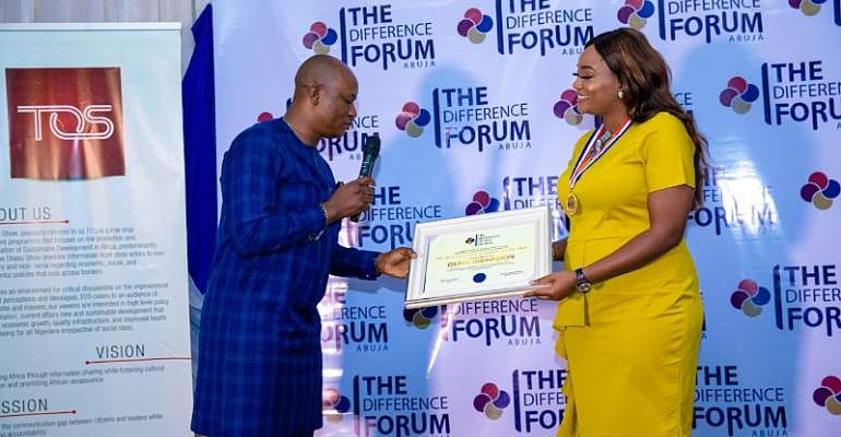 Prixair Group Chairman, Osasu Igbinedion, Tope Fasau & others bagsThe Difference Global Awards