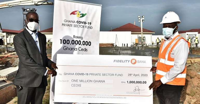 Fidelity Bank Donates Ghc1millionTo COVID-19 Private Sector Fund