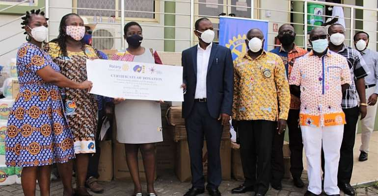 COVID-19 Pandemic: Rotarians In Ghana Supports Response Efforts