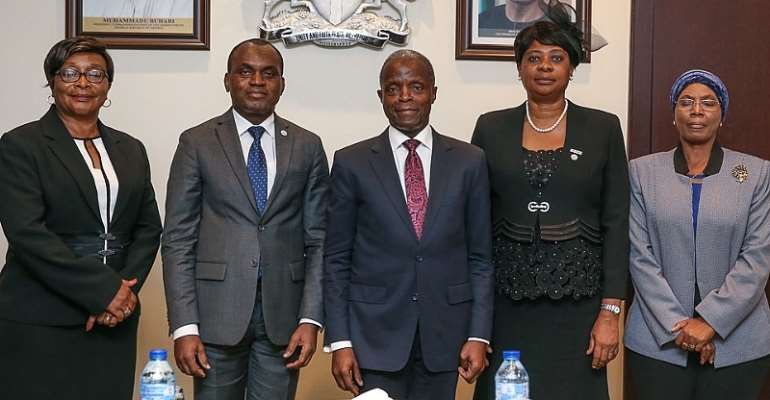 Vice President of the Federal Republic of Nigeria Professor Yemi Osinbajo and Judges