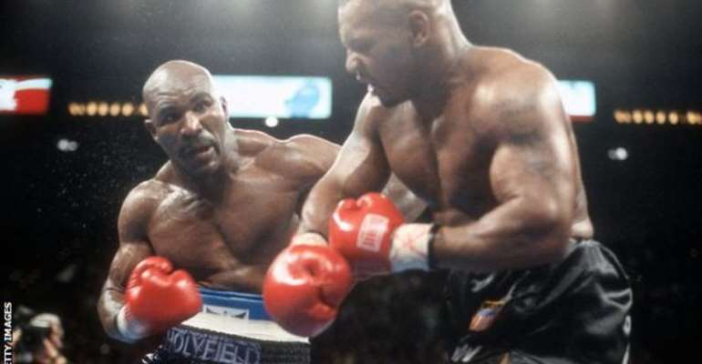 Holyfield and Tyson fought in two bouts that earned in excess of $200m