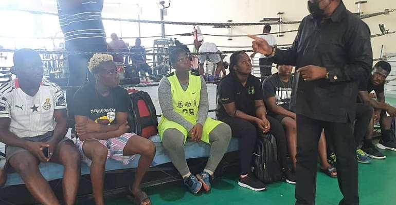GOC visits Black Bombers camp