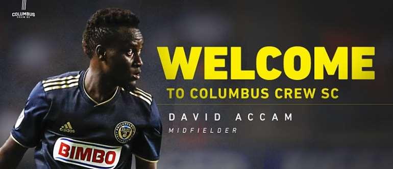 David Accam Earn Applauds From Columbus Crew President