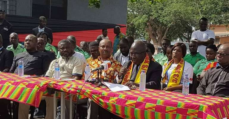 Sports Minister Honorable Isaac Asiamah seated at the far left