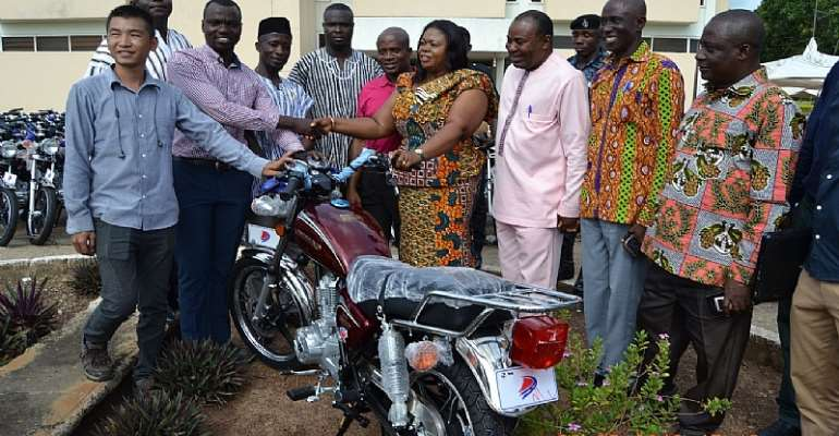 Bono Minister Donates 1,191 Radio, MP3 And Bluetooth Made Motorbikes To Assembly Members