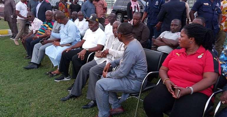 PHOTOS: Asantehene visits Black Stars training ahead of Ethiopia clash