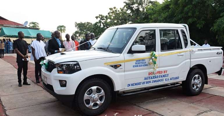 Boakye Agyarko Gives Vehicle, Fuel Coupon To Krobo Girls SHS