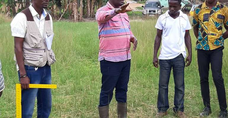 Amenfi Central DCE Inspects Ongoing Projects