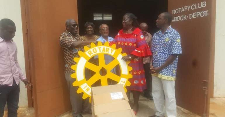 Team Rotary Club Donates To 56 School Libraries