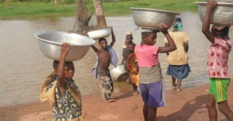 Rural women compete with animals for water