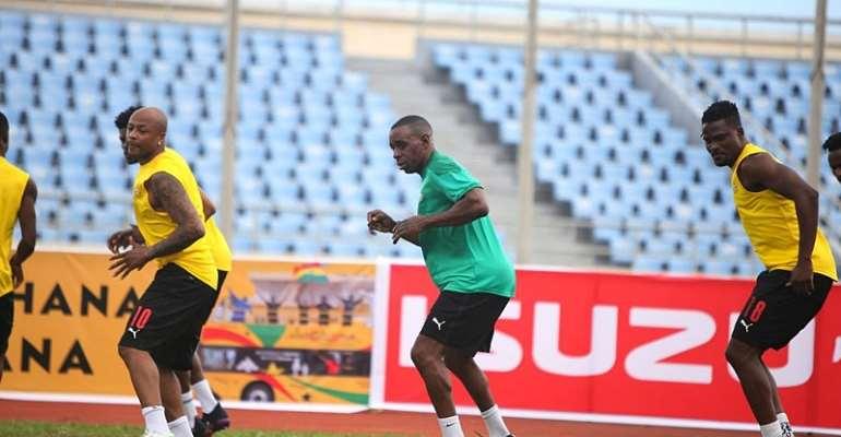 PHOTOS: Ghana's Black Stars step up training ahead of clash against Ivory Coast