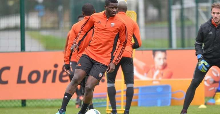 Midfielder Alhassan Wakaso hints at Lorient departure; wants to play in top-tier