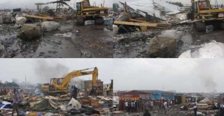 AMA demolishes structures at illegal dumping site