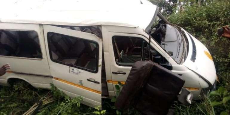 10 injured in accident on Kasoa-Winneba highway