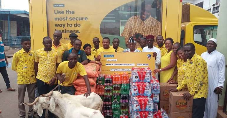 MTN Donates Gh¢30,000, Items To Chief Imam