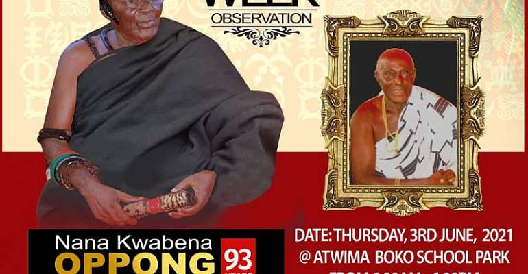 One week observation for the late Nana Kwabena Opong