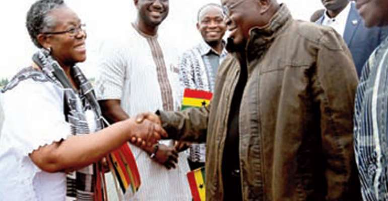 President Akufo-Addo being welcomed to Berlin